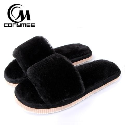 Women's Indoor Faux Fur Slippers/Sliders