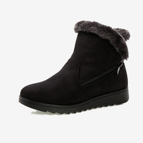 Women's Fur Boots With Zipper