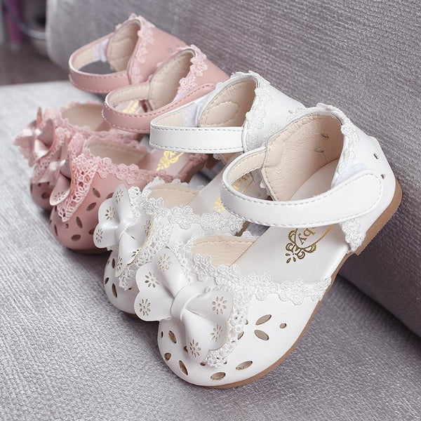 Girl's Bowtie Leather Sandals