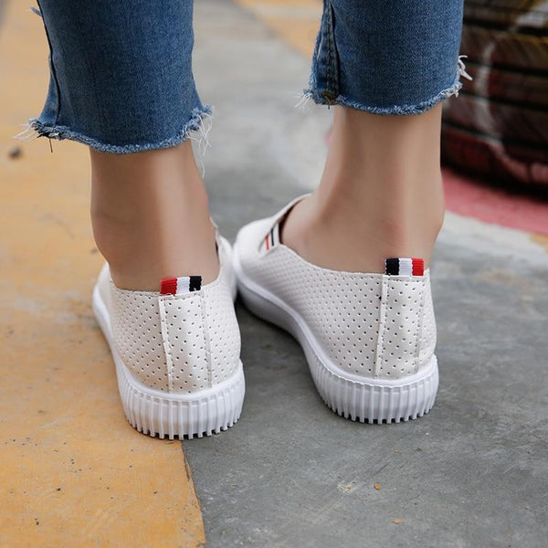Women's Leather Cut-Out Loafers