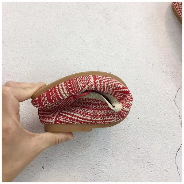 Women's Knitted Square Toe Flats (multiple styles available)
