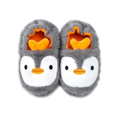 Children's Penguin/Monster/Bunny/Dog Plush Slippers