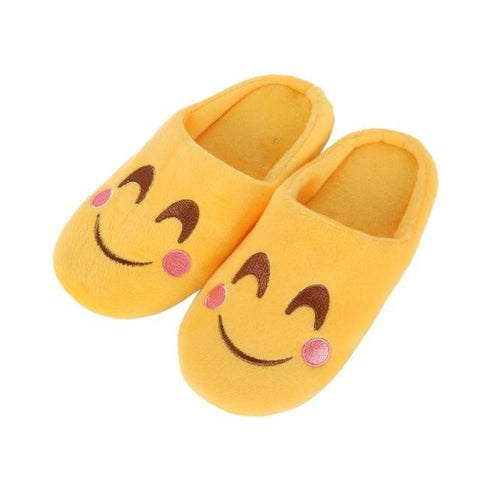Kids Indoor Emoji Slippers