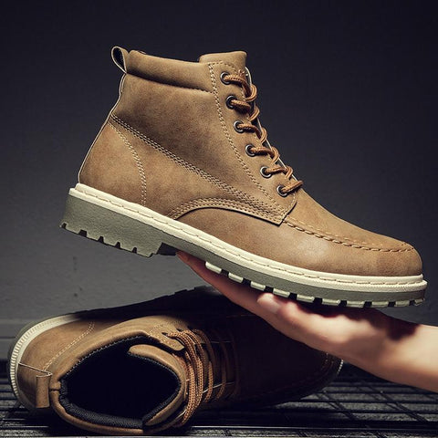 Men's Retro Leather Ankle Boots