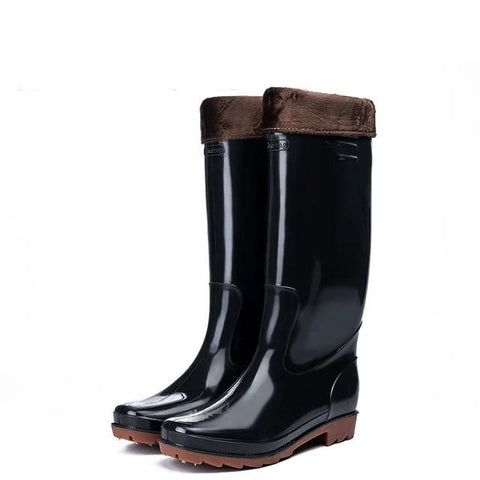 Men's Waterproof Galoshes/Fishing Boots (fur lining is optional)