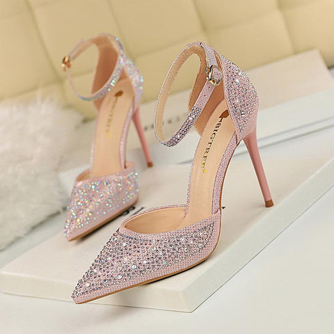 Women's Sparkly Pointed Toe High Heels