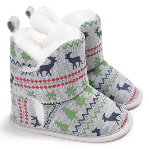 Newborn Baby/Toddler Patterned Boots