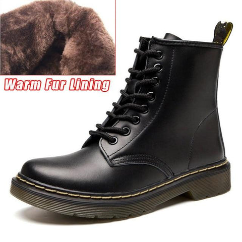 Women's Genuine Leather Motorcycle Ankle Boots
