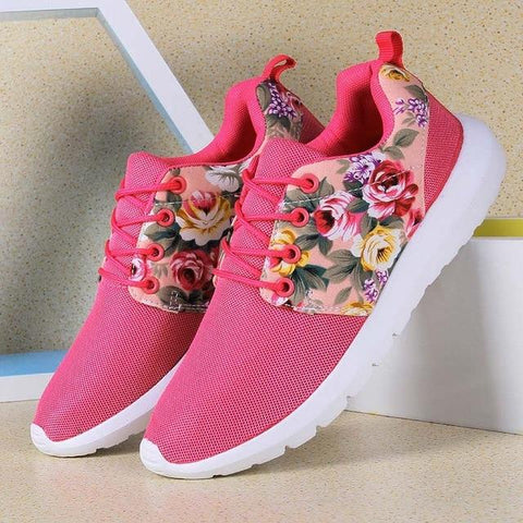 Women's Floral Print Sneakers