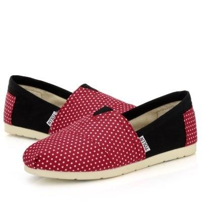 Women's Canvas Loafers With Stripes (polka-dot designs available)