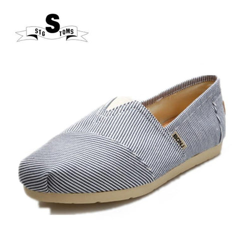 Women's Striped Loafers