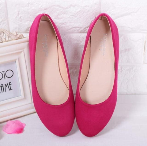 Women's Solid Color Ballet Flats