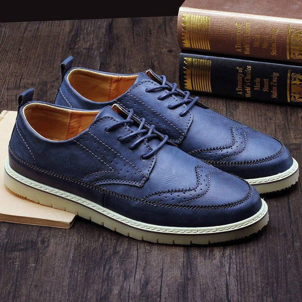 Men's Retro Leather Oxford Shoes - The Shoe Shelf