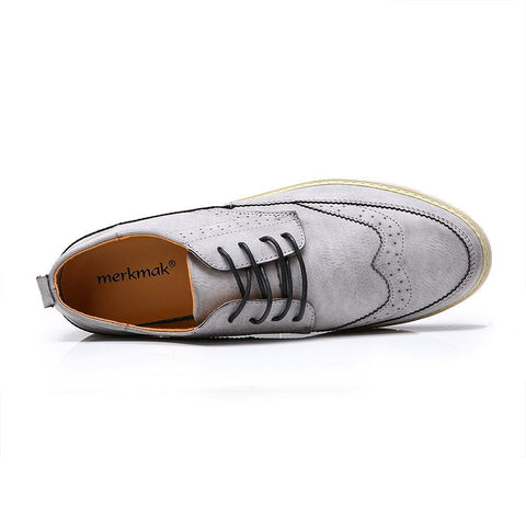 Men's Retro Leather Oxford Shoes