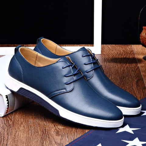 Men's Leather Casual Shoes - The Shoe Shelf