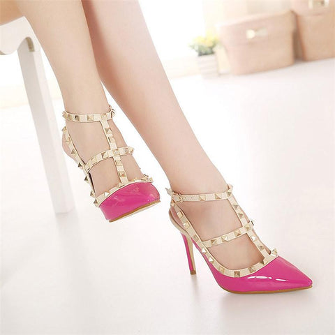 Women's Studded Pointed-Toe High Heels - The Shoe Shelf