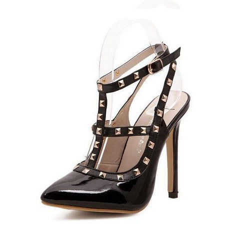 Women's Studded Pointed-Toe High Heels