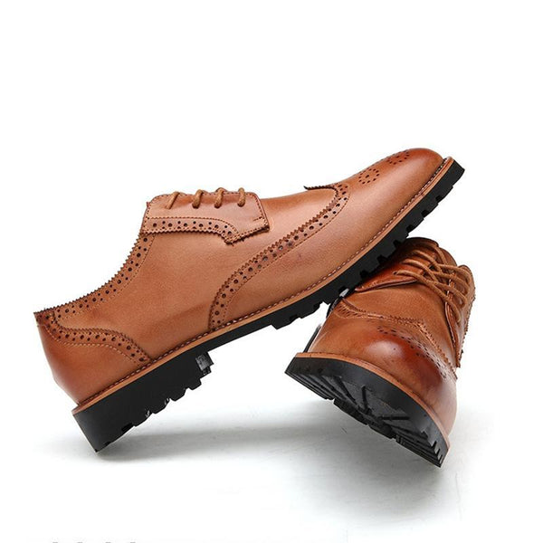 Men's Leather Oxford Shoes - The Shoe Shelf