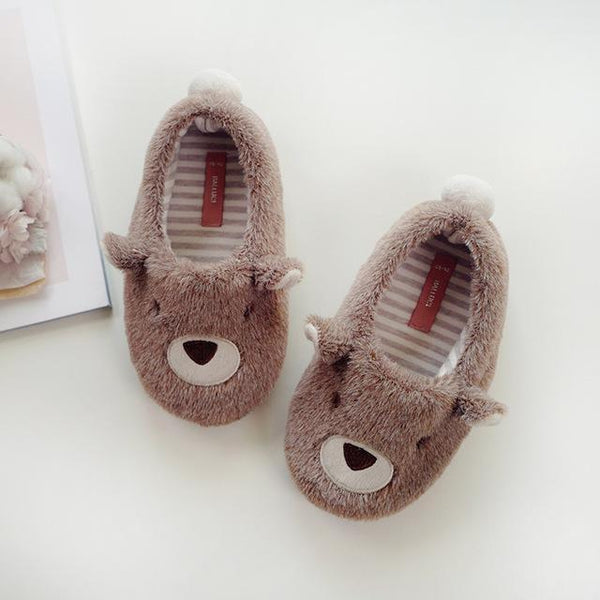 Kids Cute Animal-Shaped Slippers - The Shoe Shelf