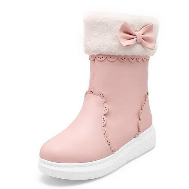 new concept meet get new Girls Snow Boots with Cute Bow