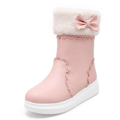 Girls Snow Boots with Cute Bow