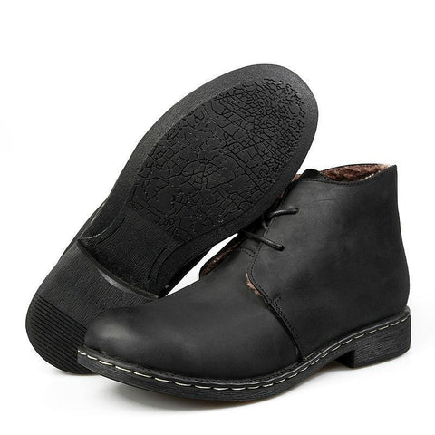 Men's Hand-Made Genuine Leather Boots - The Shoe Shelf