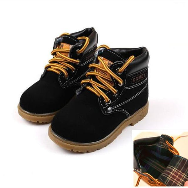 Kids Motorcycle Ankle Boots