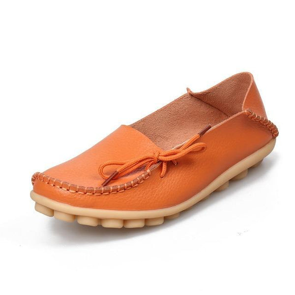 Women's Leather Moccasin Loafers