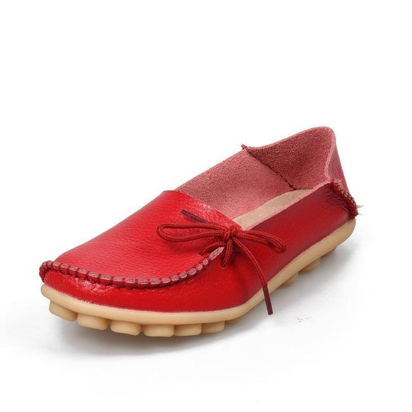 Women's Leather Moccasin Loafers - The Shoe Shelf