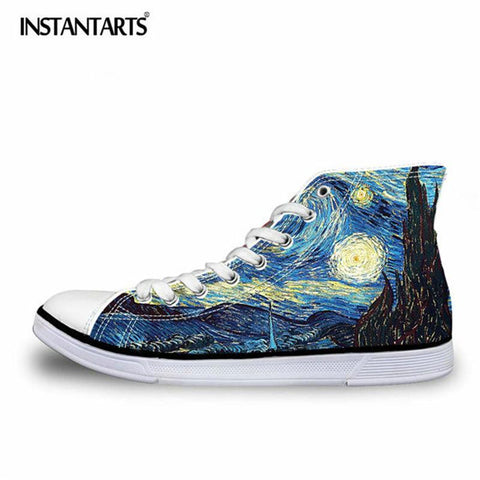 Men's High Top 3D Art Sneakers (multiple styles available)
