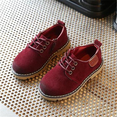 Children's Retro Style Leather Oxfords