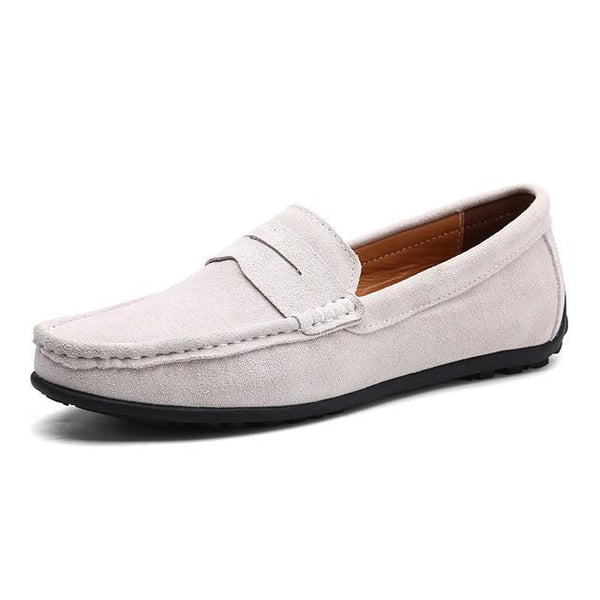 Men's Suede Leather Loafers - The Shoe Shelf
