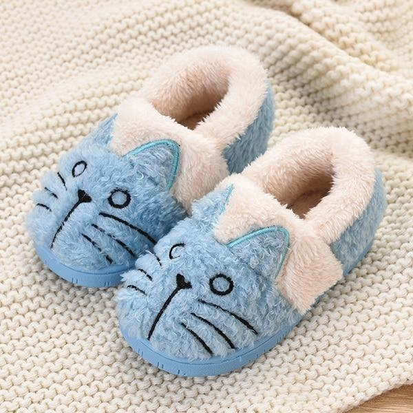 Girls Fluffy & Soft Animal Slippers - The Shoe Shelf