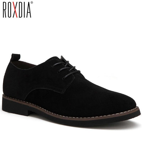 Men's Casual Lace-up Leather Loafers - The Shoe Shelf