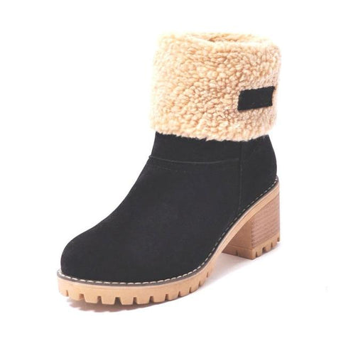 Women's Fur-lined Suede Boots