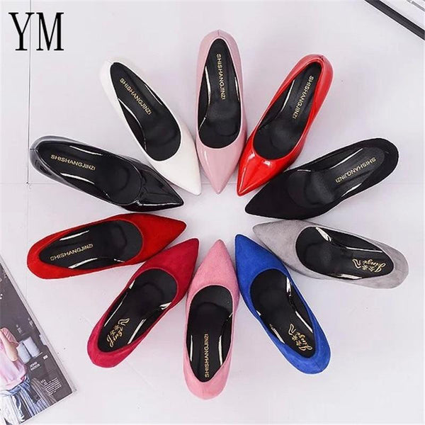 Women's Solid Color Heels