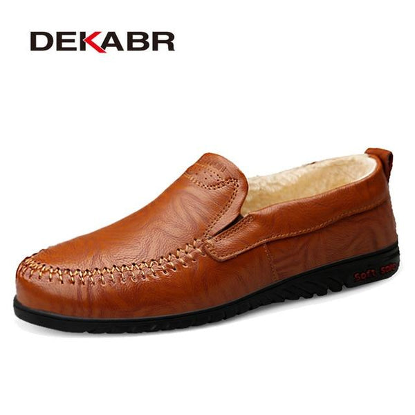 Men's Flexible Genuine Leather Flats/Loafers
