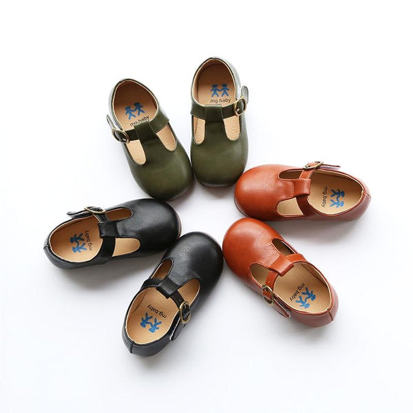 Children's Leather Cutout Flats/Loafers