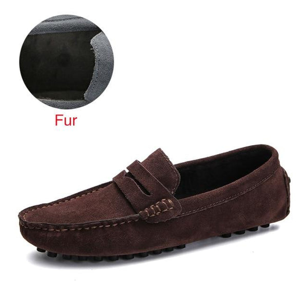 Men's Solid Color Loafers
