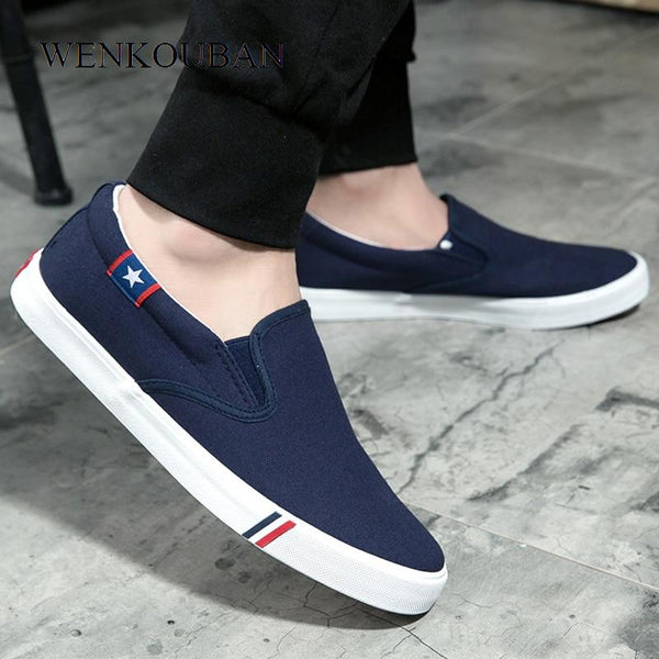 Men's Solid Color Canvas Flats/Loafers