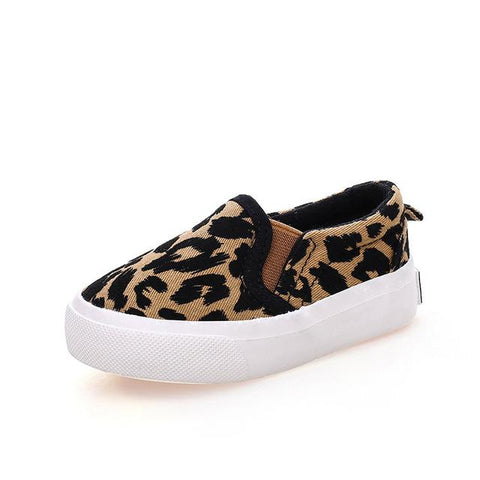 Kids Leopard Print Loafers