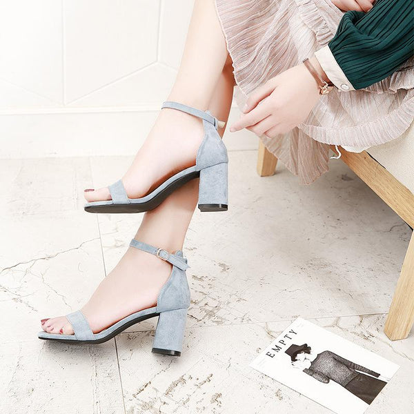 Women's Square Heel Sandals