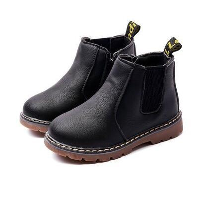 Children's Leather Waterproof Boots