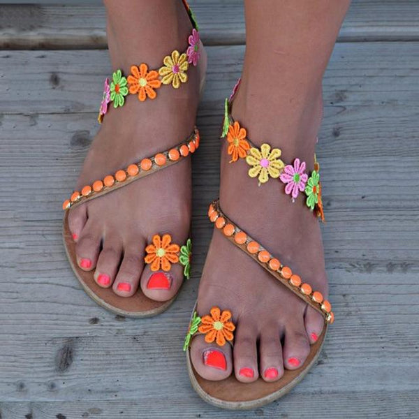 Women's Floral Sandals/Flip Flops (different styles available)