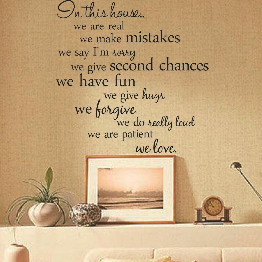 In This House Quote Decal Decorative Decal Outlet