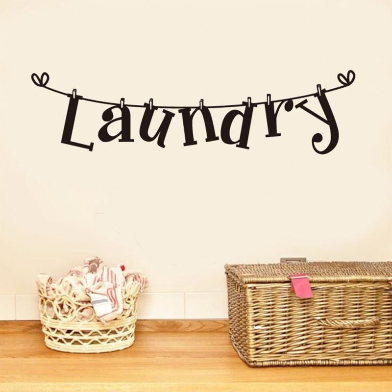 Laundry Wall Art Decal Decorative Decal Outlet