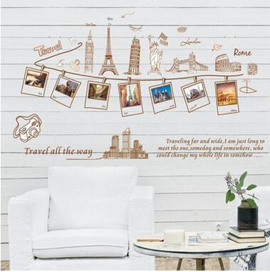 Travel Photo Frame Decal - Decorative Decal Outlet