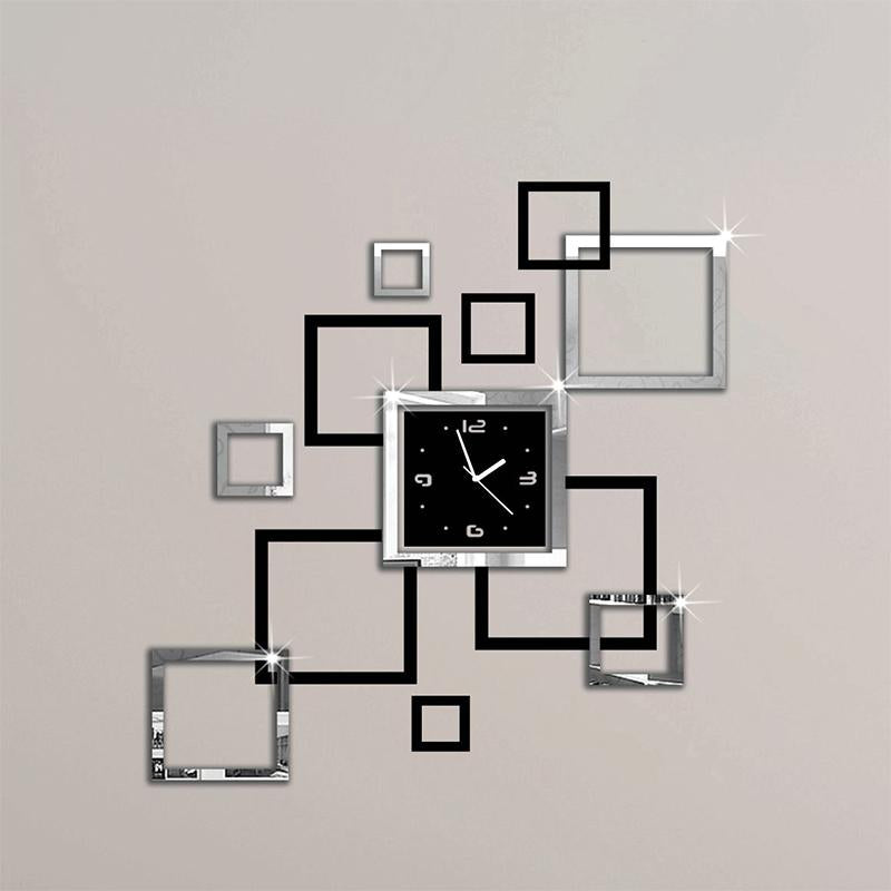 Wall Clocks Acrylic Contemporary Design - Decorative Decal Outlet