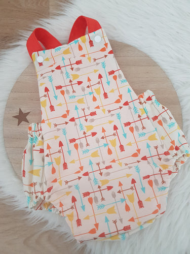 Size 0 Baby Romper, 1st Birthday / Cake Smash Outfit - ARROWS
