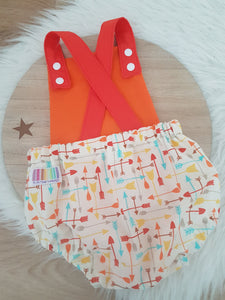 ARROWS Size 0 Baby Romper, 1st Birthday / Cake Smash Outfit